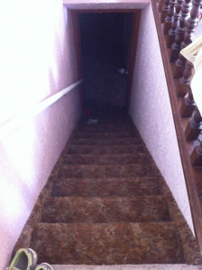 The stairs before the transformation