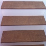 Another view of the stairs after the paper has dried.