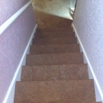 This is the stairs after the paper has dried.