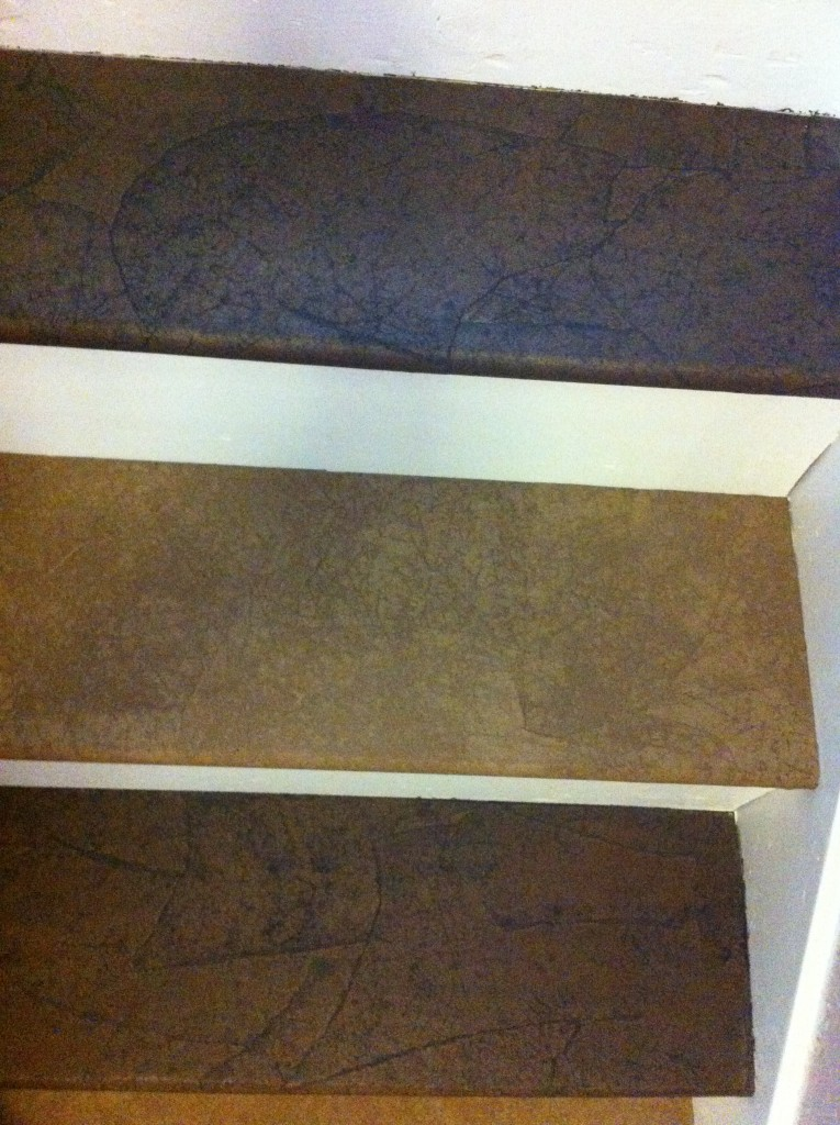 Skipping every other step makes it possible to still use your stairs when applying stain.