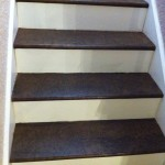 Stairs after stain.